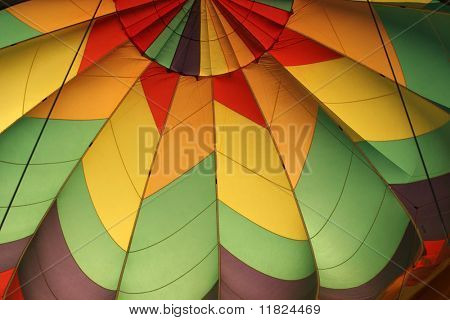 Top view of a balloon