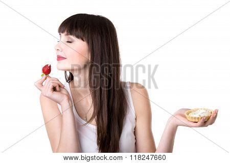 Young Woman Enjoying Cake