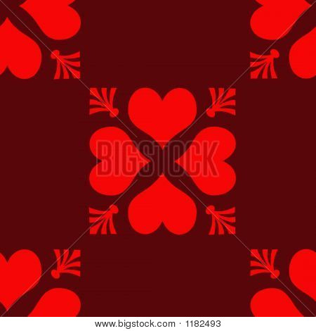 Seamless Repeating Checkerboard Hearts Tile