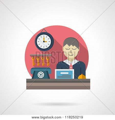 Reception detail flat color vector icon