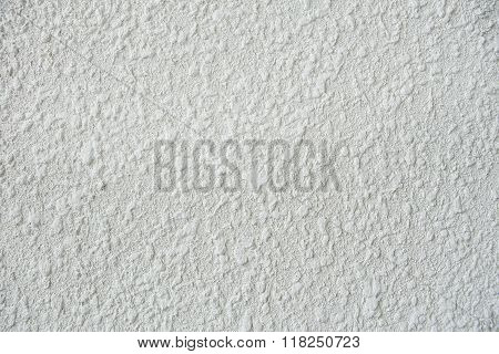 close up of a White stucco wall