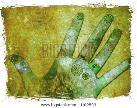Hands Of Chakra Energy - Green