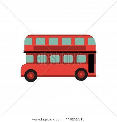 Red Retro City Double London Bus