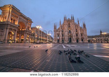 Milan, Italy: Piazza del Duomo, Cathedral Square