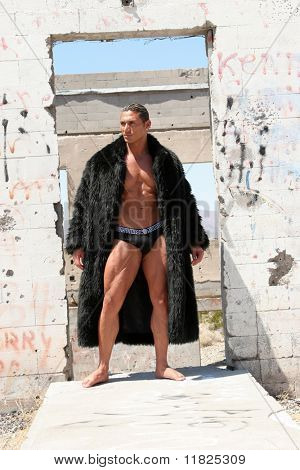 Attractive man in coat