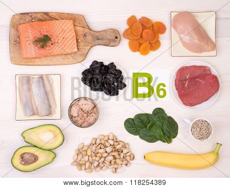 Vitamin B6 containing foods