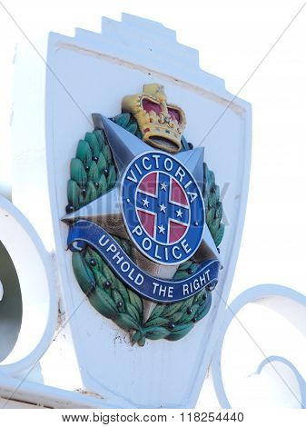 Sign Of The Victorian Police Academy