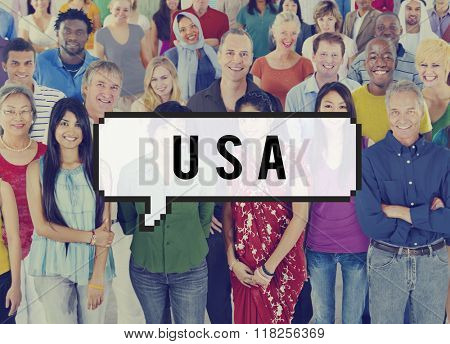 USA United States of America Nation Country Concept