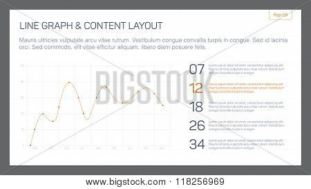Line graph and content layout slide