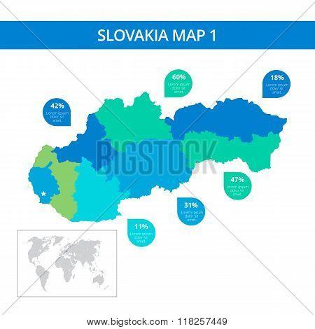 Slovakia map template 1