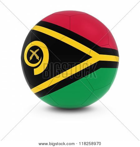 Vanuatu Football - Vanuatuan Flag on Soccer Ball - 3D Illustration