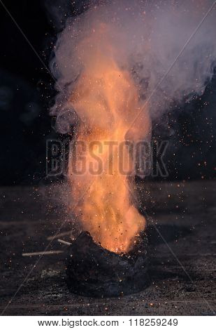 Gun Powder Exploding