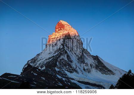 View Of Matterhorn Mt. At Zermatt