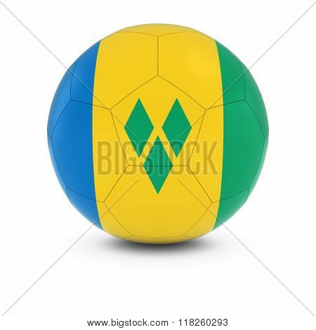 Saint Vincent and the Grenadines Football - Vincentian Flag on Soccer Ball - 3D Illustration