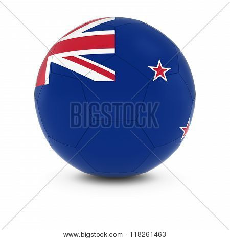 New Zealand Football - New Zealand Flag on Soccer Ball - 3D Illustration
