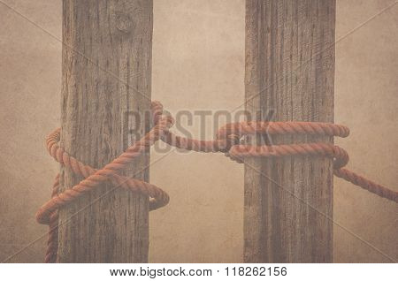 Two tied posts