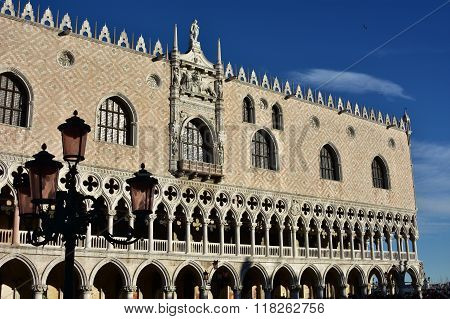 Doge's Palace, One Of The Most Famous Landmark In Venice