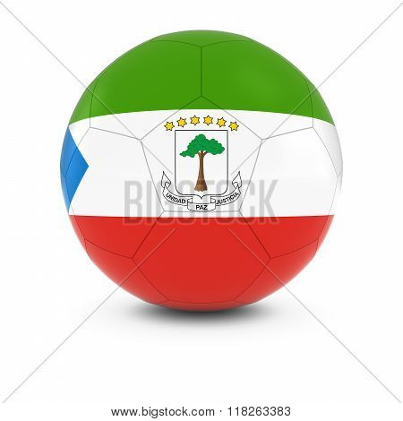 Equatorial Guinea Football - Equatorial Guinean Flag On Soccer Ball