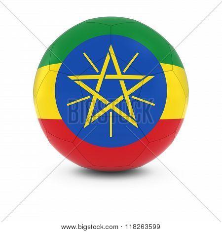 Ethiopia Football - Ethiopian Flag On Soccer Ball