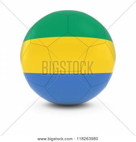 Gabon Football - Gabonese Flag On Soccer Ball