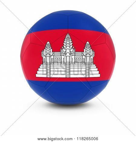 Cambodia Football - Cambodian Flag On Soccer Ball
