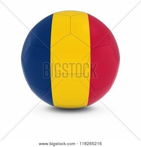 Chad Football - Chadian Flag On Soccer Ball