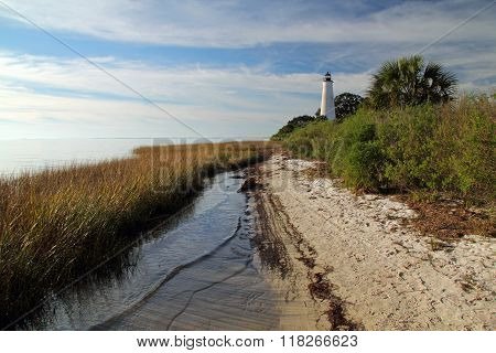 Beach and Lighthouse