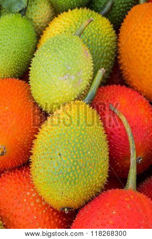 Gac Fruit (Momordica cochinchinensis) in market Thailand