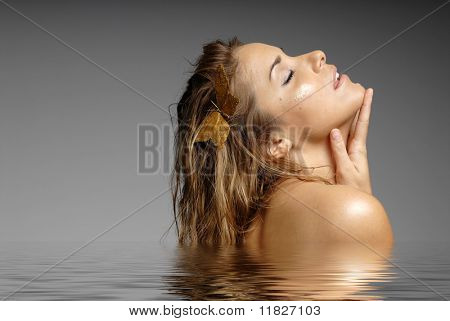 Beautiful girl in spa