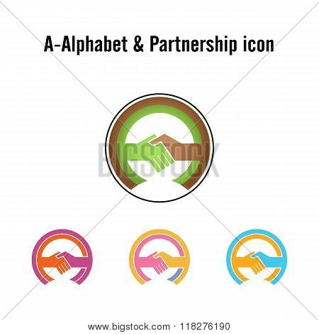 Creative A-letter Icon Abstract Logo Design Vector Template.business Offer,partnership Icon.corporat