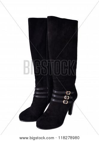 Woman Boots Isolated On The White Background