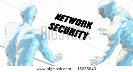 Network Security Discussion and Business Meeting Concept Art