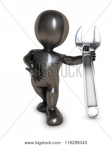 3D Render of Morph Man Builder with wrench