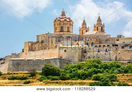 scenic view on Mdina