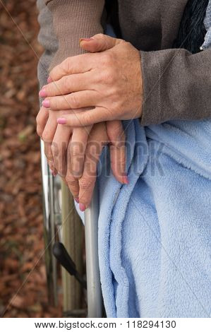 Closeup Of Women Hands
