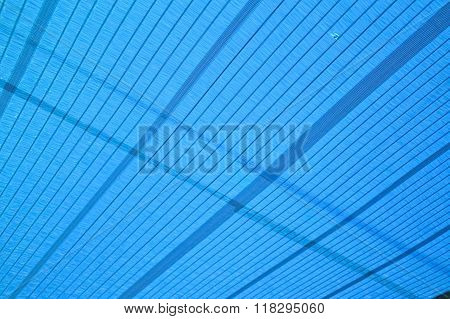 blue sun shading net