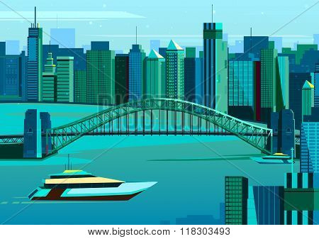 Harbor bridge in Sydney, Australia