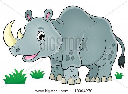 Rhino theme image 1 - eps10 vector illustration.