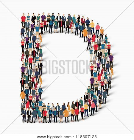 group  people  shape letter D