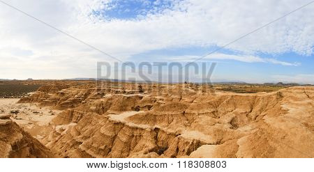 Cliffs in Bardenas Reales Biosphere Reserve, Spain