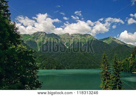 Lake Ritsa In Abkhazia