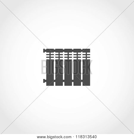 Heat radiator vector icon