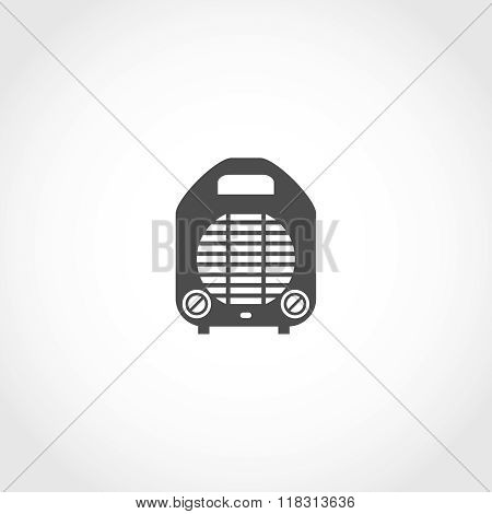 Heater vector icon