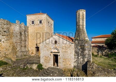 Ulcinj old town museum in an ancient fortress. Montenegro