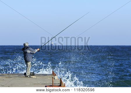 Fishing In Stormy Weather