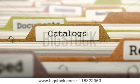 Folder in Catalog Marked as Catalogs.