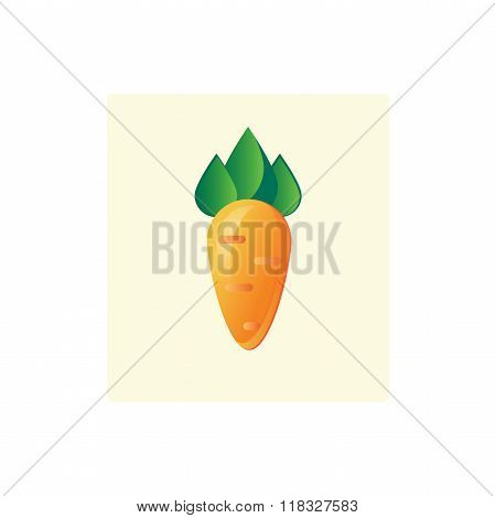 Logo Icon Of A Root Crop Carrots