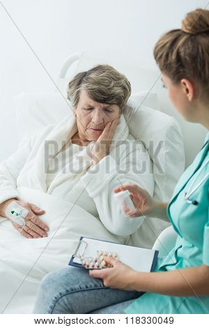 Worried Older Woman