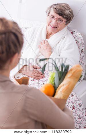 Friend Visiting Woman