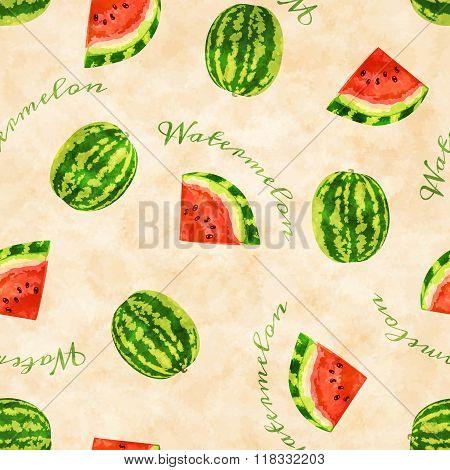 Watermelons seamless pattern